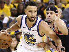 Steph Curry, Warriors-Blazers